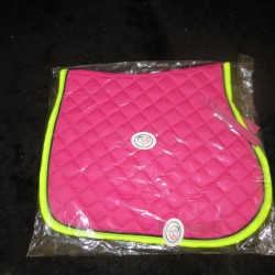 General Purpose Saddle Pad Pink / Lime