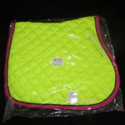 General Purpose Saddle Pad Lime / Pink