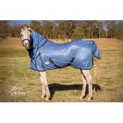 Free Breeze Soft Mesh Combo Mini Horse Rug Blue