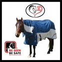 600 Denier Rainsheet / Poly Cotton Hybrid Combo Horse Rug Teal