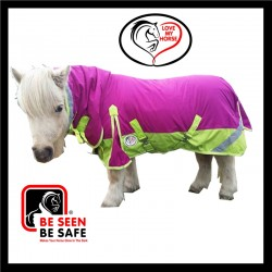 600D Rainsheet MINI Combo Horse Rug Rasberry / Lime