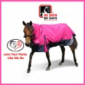 1200 Denier Rainsheet Mini Combo Horse Rug Pink / Black