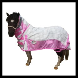 Mini Poly Cotton Soft Mesh Hybrid Combo Horse Rug Pink