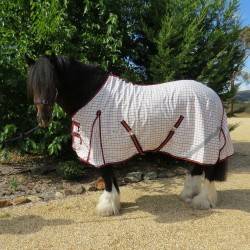 Clydesdale Poly Cotton Standard Horse Rug Red Trim