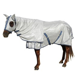 Dura Mesh  410 GSM Summer Hooded Combo Horse Rug Blue