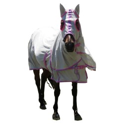 Dura Mesh  410 GSM Summer Hooded Combo Horse Rug Pink