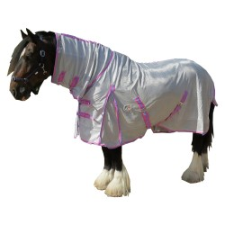 410 GSM Mesh Clydesdale Combo Horse Rug Pink Trim