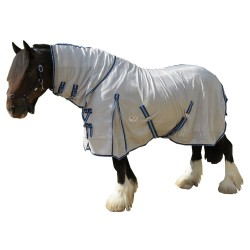 410 GSM Mesh Clydesdale Combo Horse Rug Blue Trim