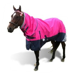 1200 Denier Rainsheet Waterproof Combo Horse Rug Pink / Navy
