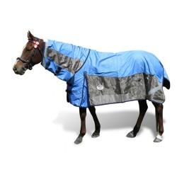 600 Denier Rainsheet / Mesh Hybrid Combo Horse Rug Blue