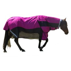 600 Denier Rainsheet / Mesh Hybrid Detachable Neck Horse Rasb / Black
