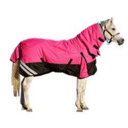 1200 Denier Rainsheet Waterproof Combo Horse Rug Pink / Black