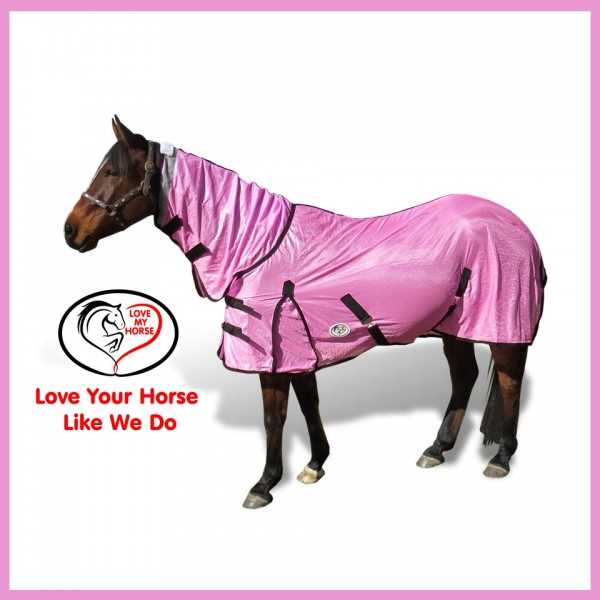 Soft Mesh Combo Horse Rug Pink
