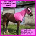 Lycra Skinny Horse Hood Pink