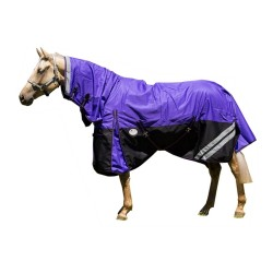1200 Denier Fleece Lined Combo Horse Rug Purple / Black