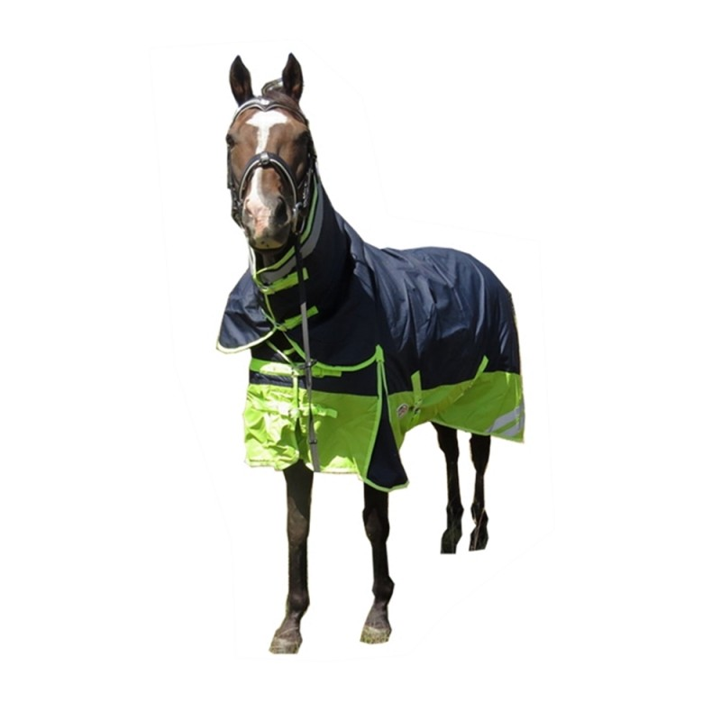600d 300g Fill Combo Waterproof Horse Rug Navy Safety Yellow